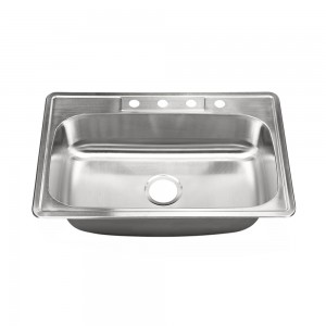 """453-4 Stainless Steel Top Mount / Self-Rimming Double Bowl Sink 33"""" x 22"""" x 9"""""""