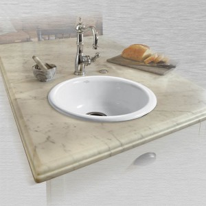 "Phoenix 717 18"" Round Self Rimming Vegetable or Bar Sink"