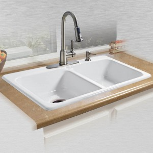 "Daytona 725-4 Self Rimming Kitchen Sink  33"" x 22"" x 7.5"""