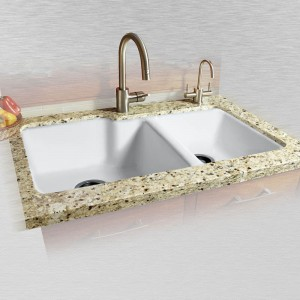 "Huntington 737-UM Offset Undermount Kitchen Sink   36"" x 22"" x 10"" / 8"""