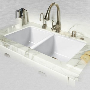 "Doheny 748-UM Double Bowl Undermount Kitchen Sink 33"" x 19.5"" x 9"""