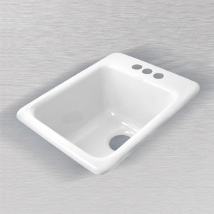 "La Quinta 729 Self Rimming Vegetable/Bar Sink 16"" x 20"""