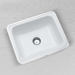 "Little Corona 720-F Flat Rim Kitchen Sink 24"" x 16"""