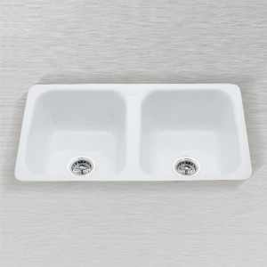 "Aliso 730-D-UM  Flat Rim Undercounter Mount Kitchen Sink 32"" x 20"""