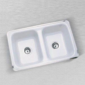 "Aliso 730-D  Flat Rim Kitchen Sink 32"" x 20"""