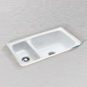"Manhattan 732-UM Hi-Low Undercounter Mount Kitchen Sink 32"" x 18"""