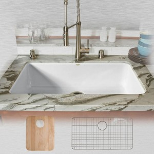 Delray 754-UM-20-All Single Bowl Undermount Kitchen Sink Kit