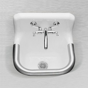 "866 Enameled Cast Iron Wall Hung Service Sink 24"" x 20"""