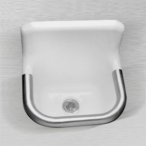 "867 Enameled Cast Iron Wall Hung Service Sink 22"" x 18"""