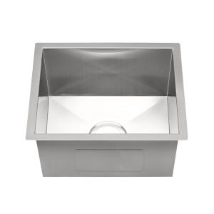 """424-HC-UM Stainless Steel Hand Crafted Undermount Bar / Vegetable Sink 15 3/4"""" x 17 3/4"""" x 7 7/8"""""""