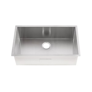 "20-284-5.5-UM Stainless Steel Square Corner Single Bowl Undermount Sink 33"" x 20"" x 5 1/2"""