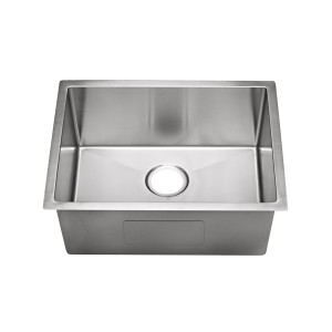 "450-12-RC-UM Stainless Steel Square Corner Single Bowl Undermount Sink 23"" x 18"" x 12"""