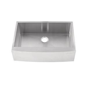 "441-UM-FS Stainless Steel Apron Sink Single Bowl Undermount Sink 32 7/8"" x 22 1/4"" x 10"""