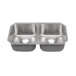 "448-UM Stainless Steel Double Bowl Undermount Sink 32 3/8"" x 18 1/8"" x 9"""