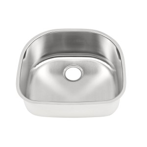 "450-D-UM Stainless Steel Undermount Single Bowl Sink 23 1/4"" x 21"" x 9"""
