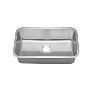 "454-UM Stainless Steel Undermount Single Bowl Sink 29 7/8"" x 18"" x 10"""